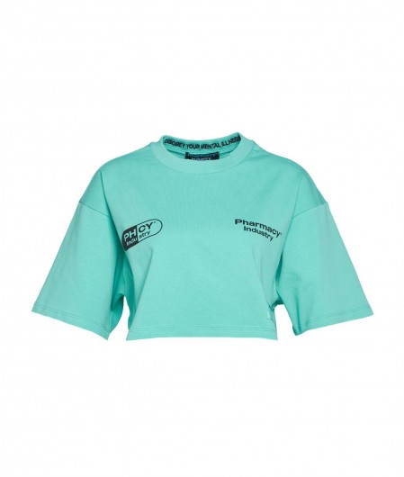 Pharmacy Industry Crop top with logo turquoise