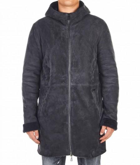 Giorgio Brato Shearling coat gray