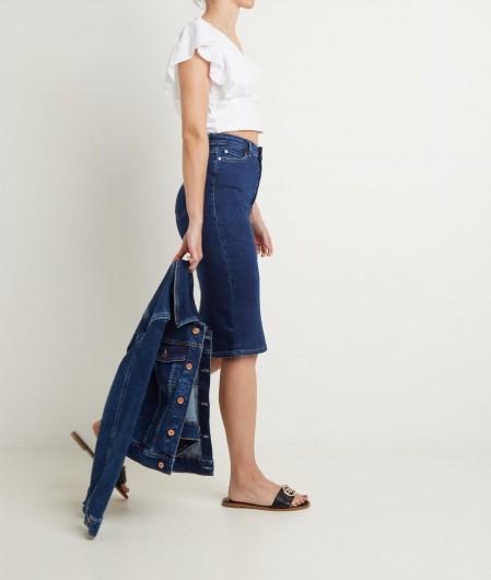 Guess Pencil Skirt in Denim Blau