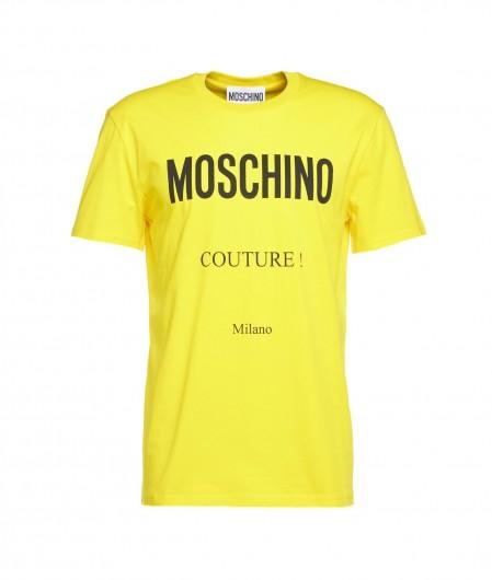 Moschino T-Shirt mit Logoschrifzug Gelb