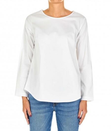 Oblo Unique Ausgestellte Bluse Weiß