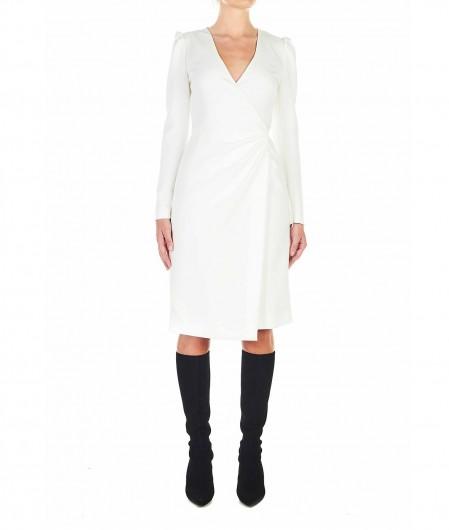 RED Valentino  Kleid aus Double-Krepp Weiß