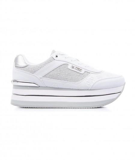 Guess Sneaker in glitter finish white