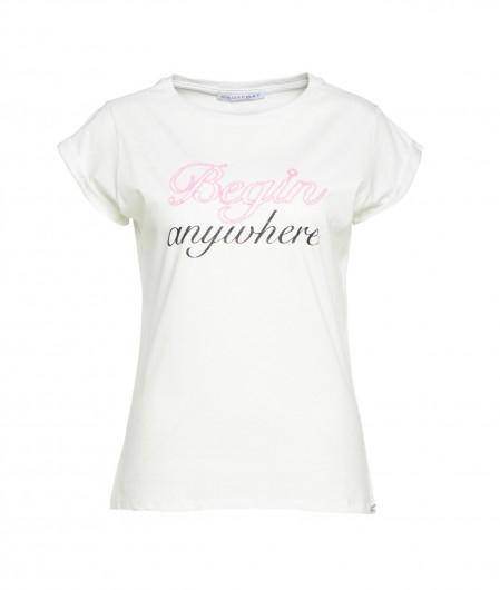 Kaos T-Shirt mit Schriftzug Weiß