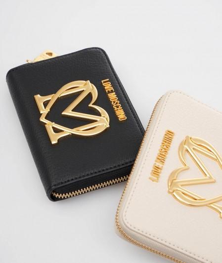 Love Moschino Portemonnaie mit Logo-Applikation Schwarz