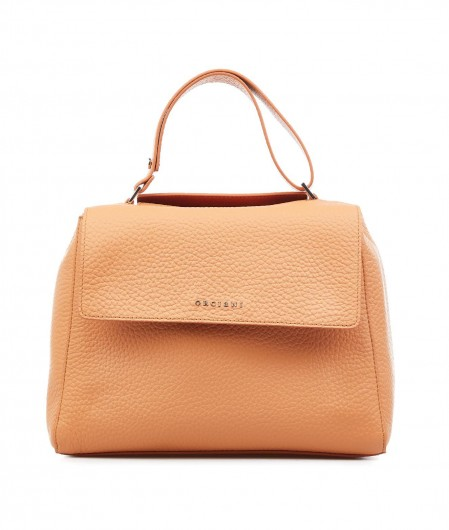 Orciani Nappa leather handbag orange