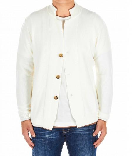 Eleventy Knitted cardigan white