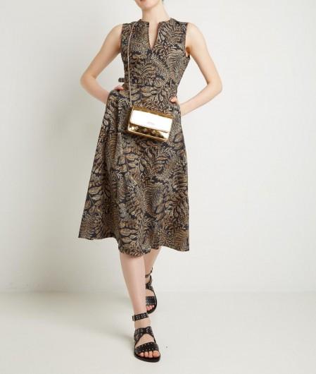 Kaos Midi dress with all over print black