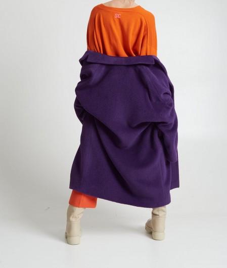 Breras Jacke in Alpakawolle Violett