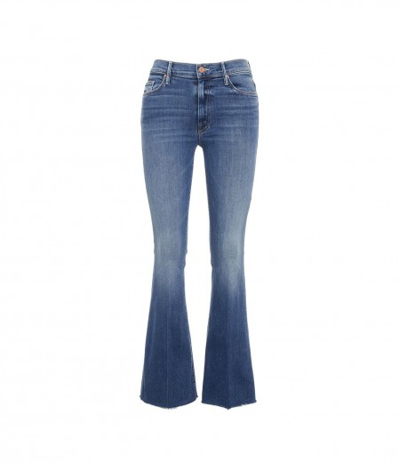 "Mother Jeans ""The Weekender Fray"" Blau"