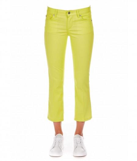 Liu Jo Pantalone cropped giallo fluorescente