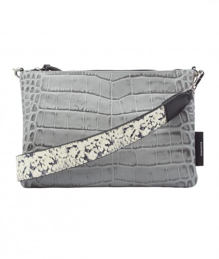"Profanter Mini bag ""Juna"" in crocodile look light gray"
