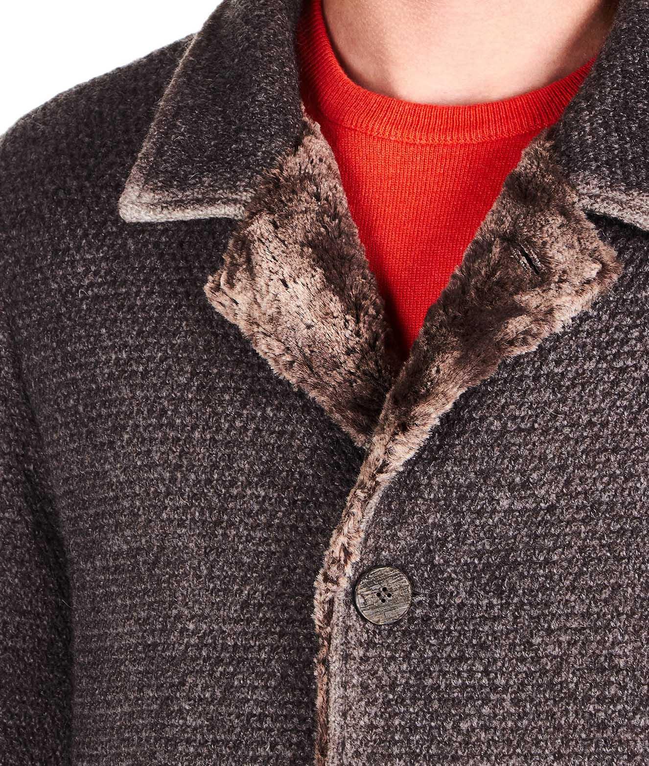 aus Mantel Kunstfell Mantel mit Wollgemisch aus Mantel Wollgemisch aus Wollgemisch mit mit Kunstfell SzpUMGqV