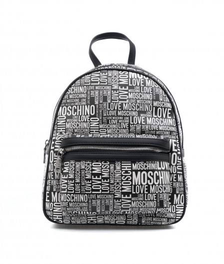 Love Moschino Backpack with logo writting black