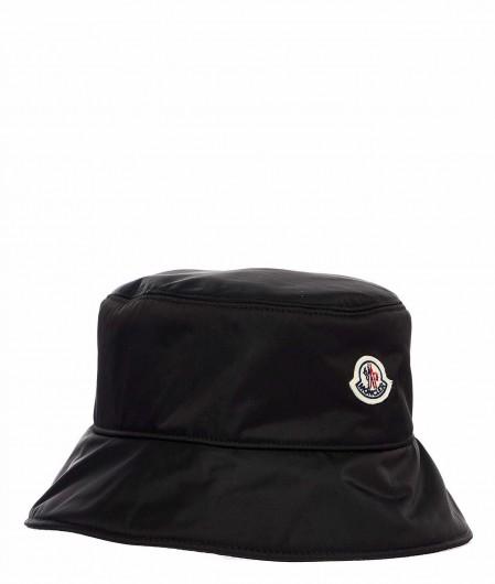 Moncler Mütze mit Logopatch Schwarz