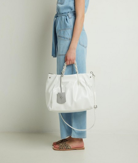 "Manila Grace Crossbody bag ""Jasmin Medium"" white"