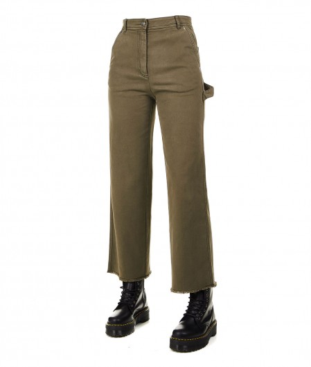 """8PM Weite Jeans """"Pesce volante"""" Olive"""