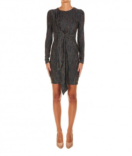 Guess by Marciano Lurex striped dress black