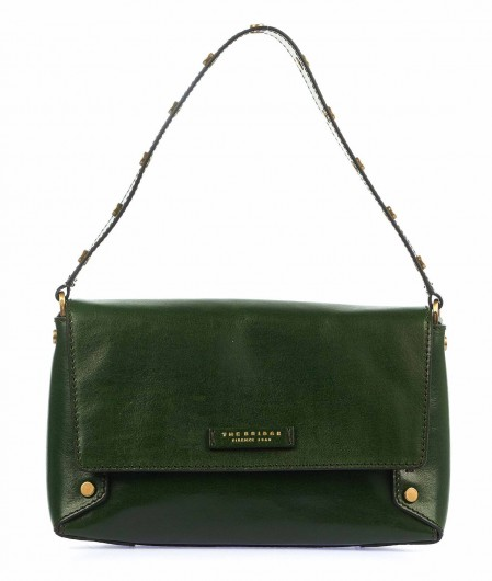 The Bridge Shoulder bag in leather dark green