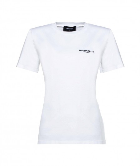 Dsquared2 T-Shirt with padded shoulders white