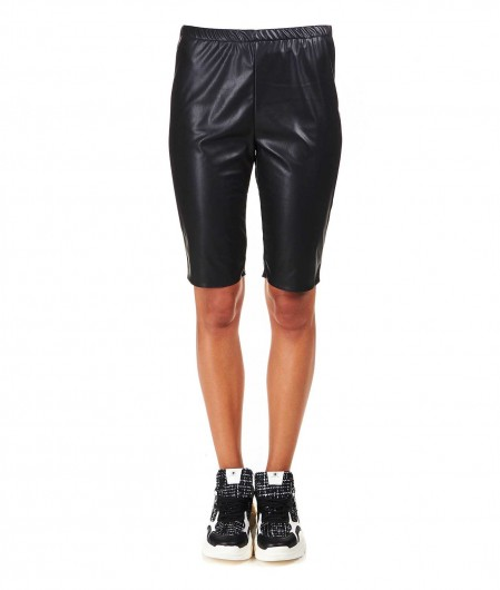 "8PM Bike shorts in faux leather ""Gru"" black"