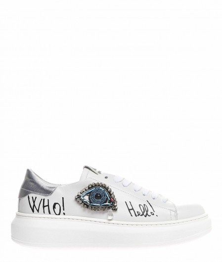 Gio+ Sneaker with strass application white