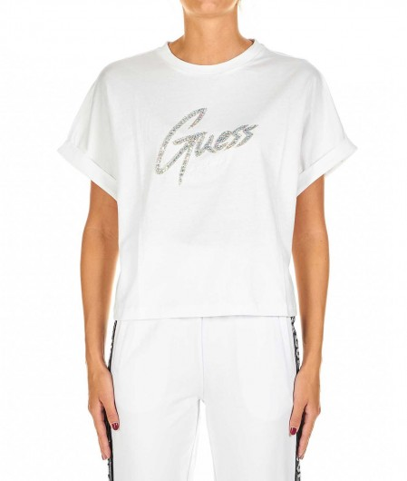 Guess T-shirt with strass white