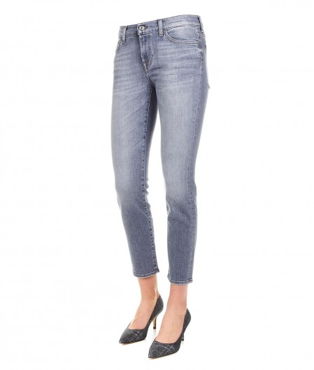 "7 for all mankind Cropped Jeans ""Roxanne"" light gray"