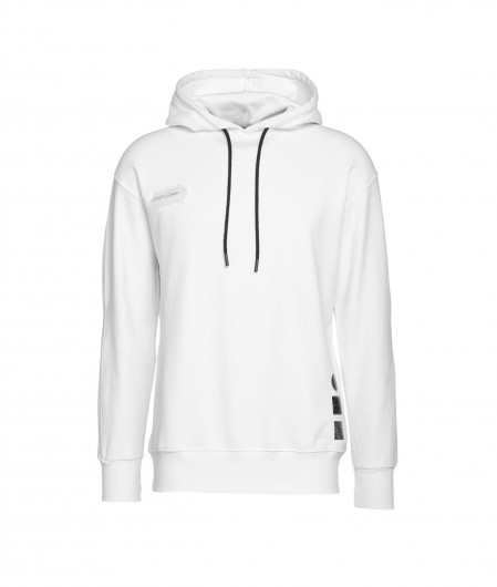 Disclaimer Hoodie with logo white
