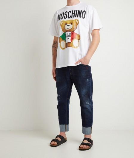 Moschino T-Shirt mit Teddy-Aufdruck Weiß