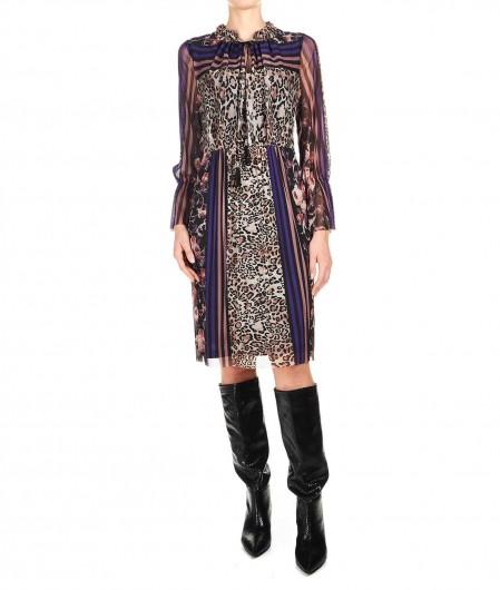 Ana Alcazar Midi dress with animal print multicoloured