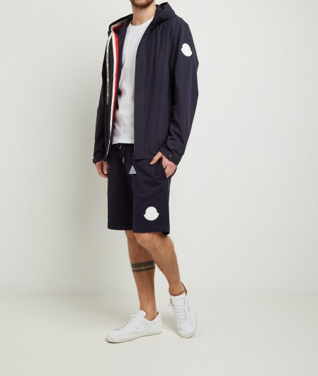 Moncler Shorts with logo patch navy