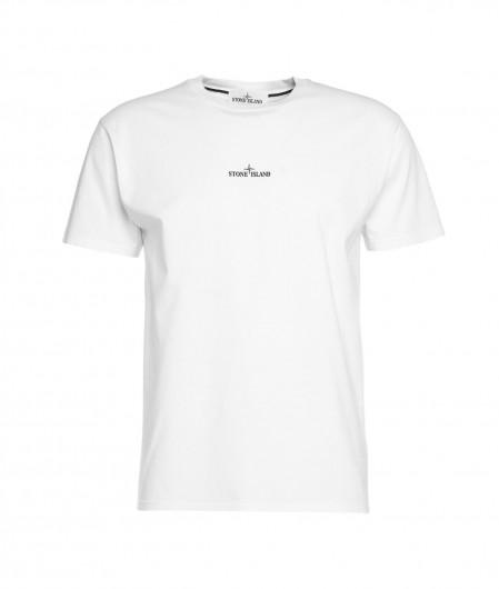Stone Island T-Shirt mit Logo Weiß