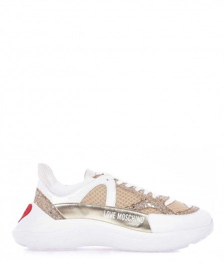 Chunky sneaker with glitter details