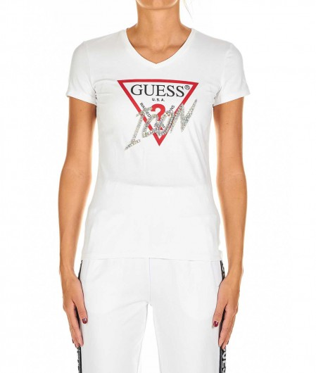 Guess T-shirt with logo application white