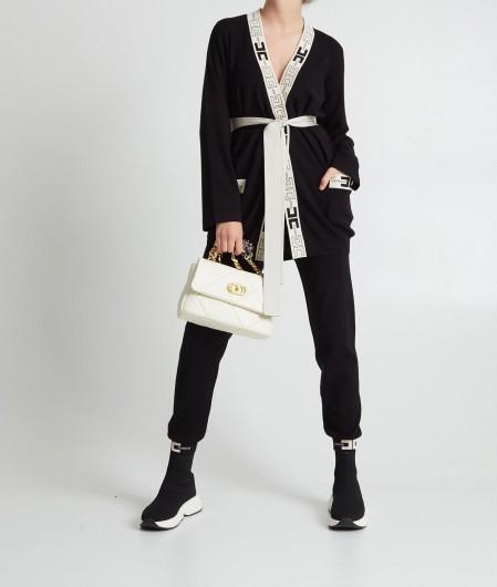 Elisabetta Franchi Knitted pants black