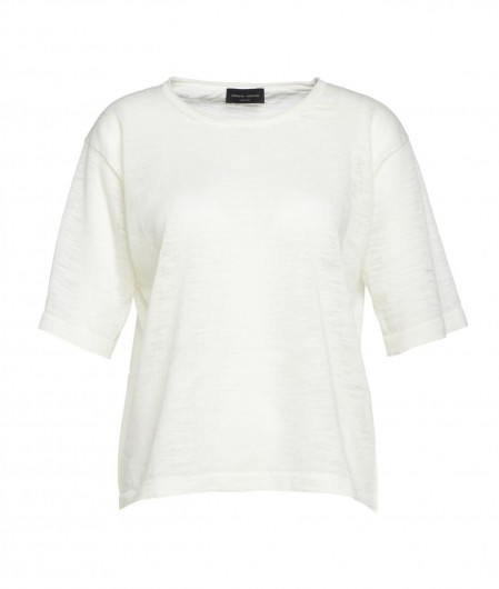 Roberto Collina T-Shirt aus Leinen Creme