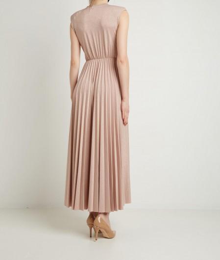 Kaos Lurex dress nude