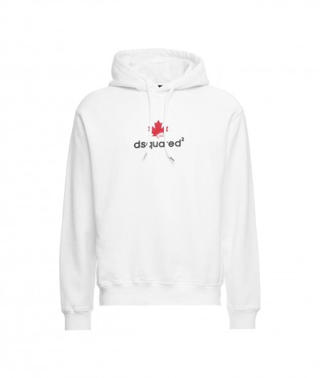 Dsquared2 Hoodie with logo white