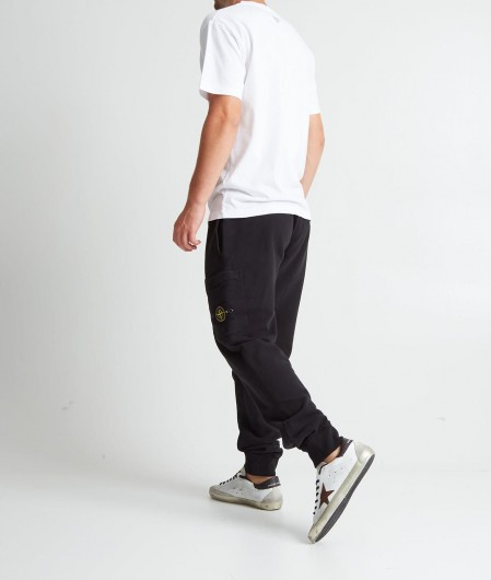 Stone Island T-Shirt mit Logoschriftzug Weiß