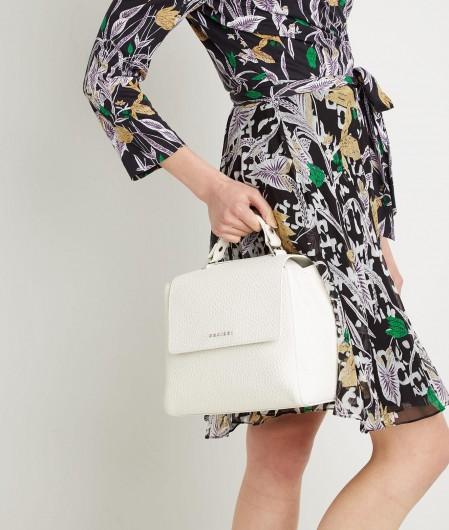 Orciani Mini Handtasche aus Nappaleder Weiß