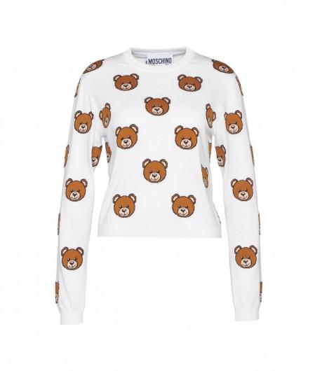 Moschino Printed sweater white