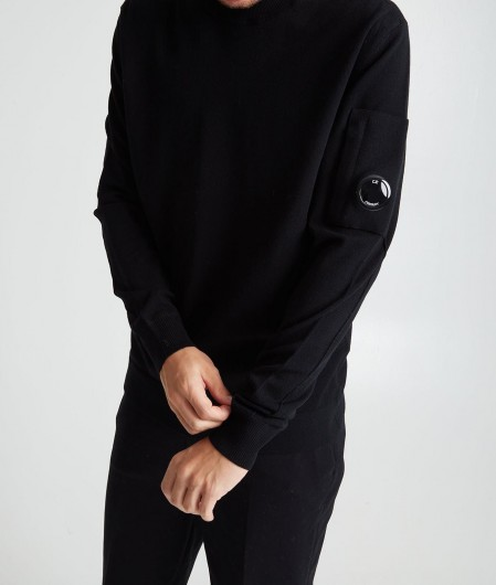 C.P. Company Sweater with logo patch black
