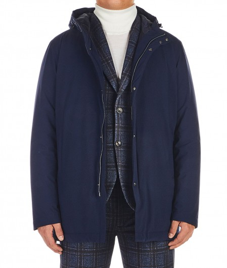 Herno Packable travel jacket Dunkelblau