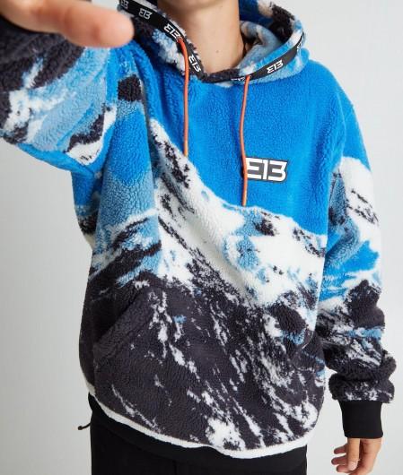 "313 Worldwide Hoodie Sweater ""Mountain"" Hellblau"