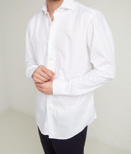 Stefano Calmonte Hemd mit geometrischem Muster Weiß