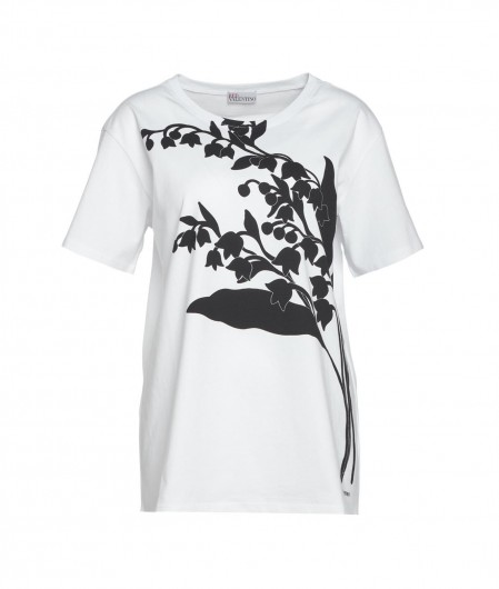 RED Valentino  T-shirt with frontal print white