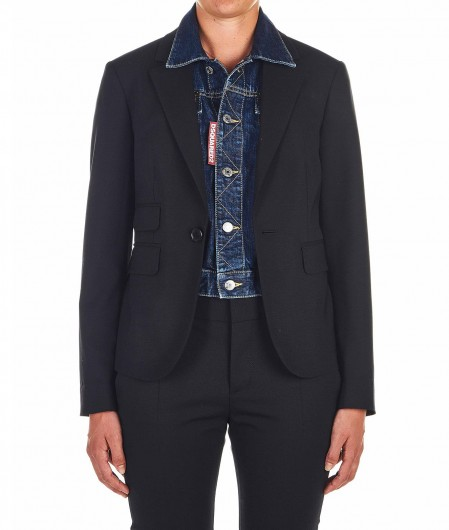 Dsquared2 Blazer with Denim gilet black