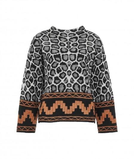 Kaos Sweater mit Leomuster Panna