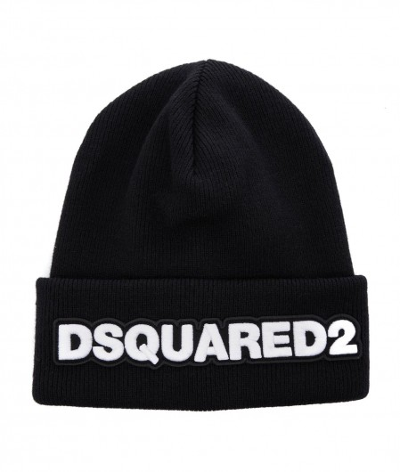 Dsquared2 Knitted beanie with logo black